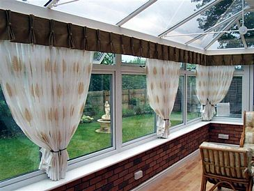 Conservatory - Dressed with voiles and pelmet
